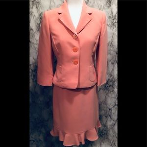 Tahari coral two piece suit